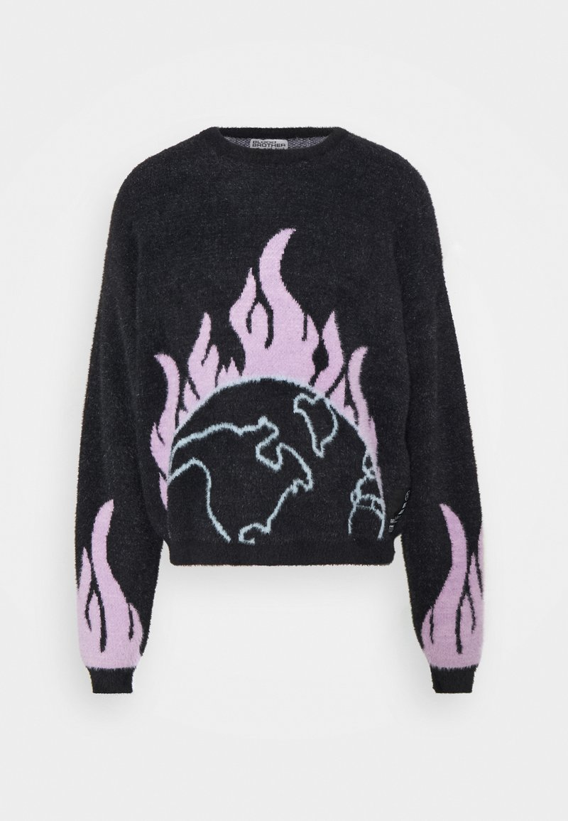 Blood Brother - PLACEMENT FLUFFYKNIT UNISEX - Jumper - black