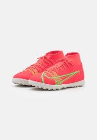 Nike Performance - MERCURIAL 8 CLUB TF - Astro turf trainers - bright crimson/metallic silver - 1