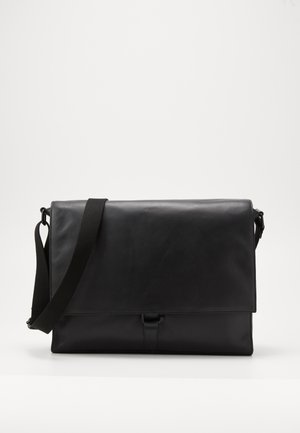 UNISEX LEATHER - Schoudertas - black