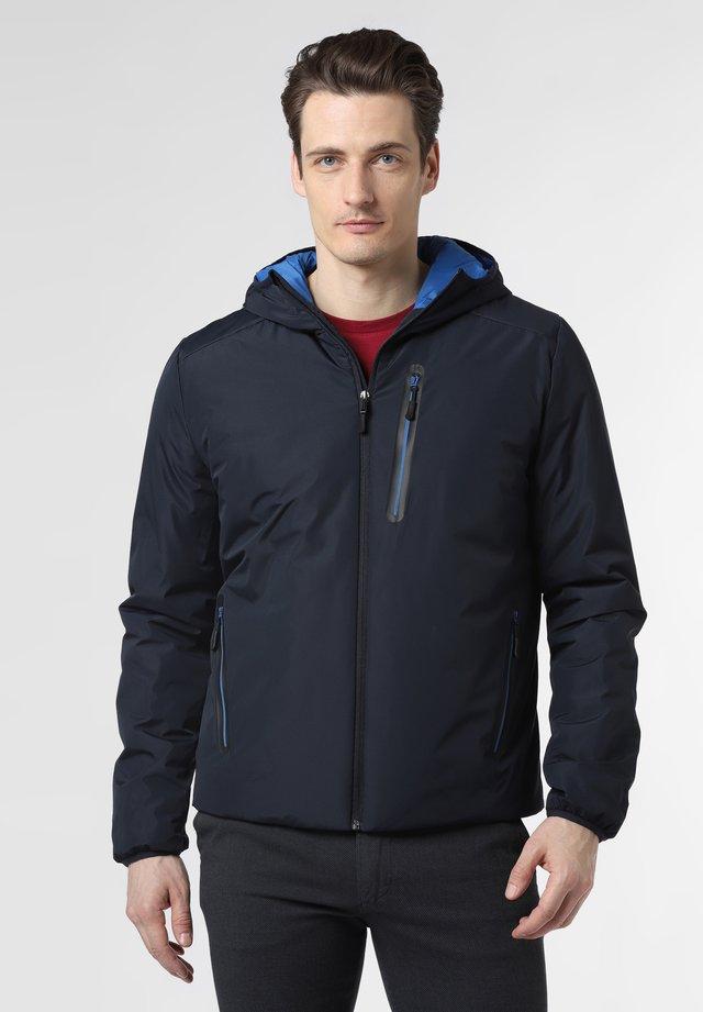 Down jacket - marine blau