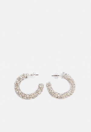PCKARITHA HOOP EARRINGS - Uhani - silver-coloured/clear