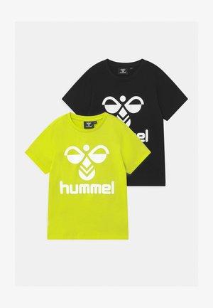 2 PACK UNISEX - Camiseta estampada - black/lime
