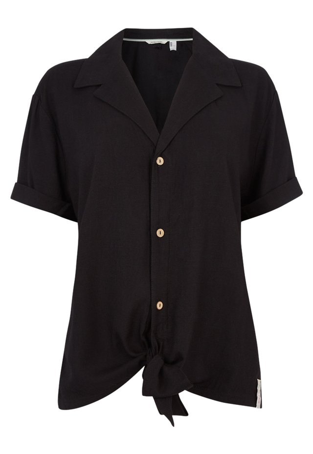 Button-down blouse - black out