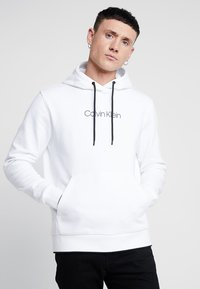 Calvin Klein - FRONT LOGO TIPPING HOODIE - Hoodie - white - 0