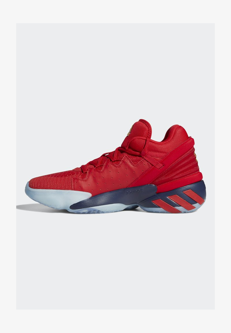 adidas Performance - D.O.N. ISSUE 2 - Basketball shoes - scarlet/team navy blue/gold metallic