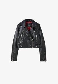 PULL&BEAR - Faux leather jacket - black - 6