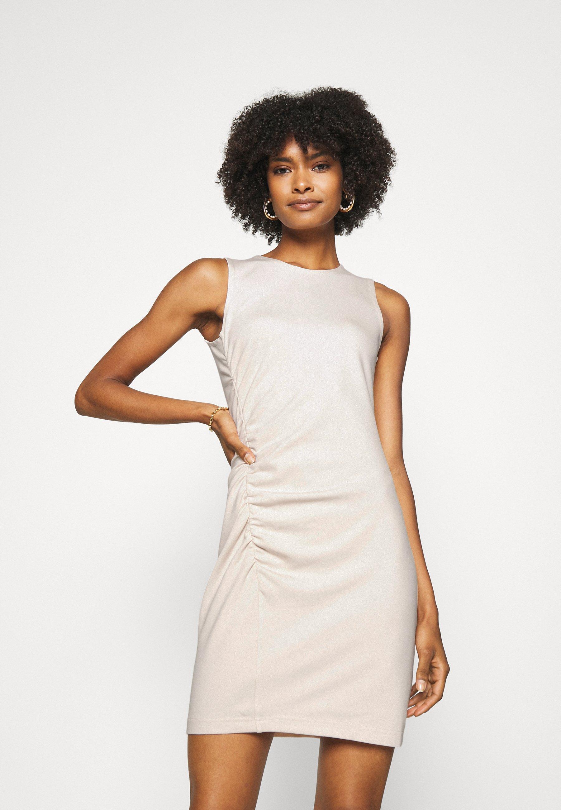 Women SIDE SEAM RUCH DRESS - Jersey dress