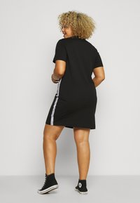 Calvin Klein Jeans Plus - PLUS TAPE DRESS - Jersey dress - black - 2