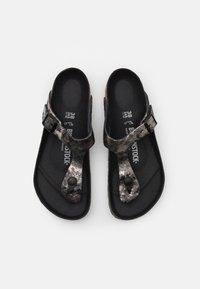 Birkenstock - GIZEH  - T-bar sandals - vintage metallic/black - 4