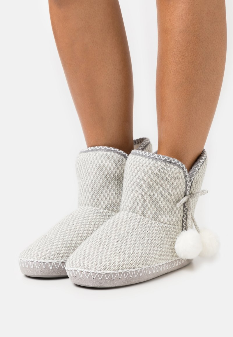 Anna Field - Slippers - light grey/white