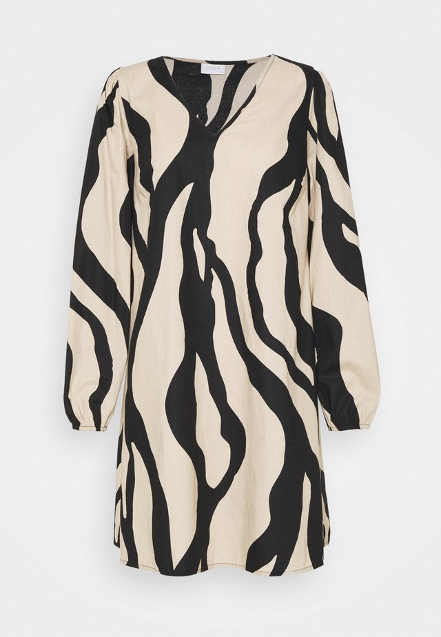 VIGAMINA VNECK DRESS - Korte jurk - humus