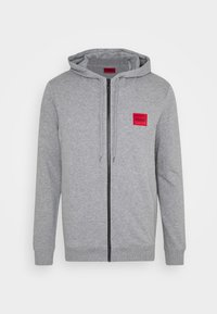 HUGO - DAPLE - Zip-up hoodie - silver - 4