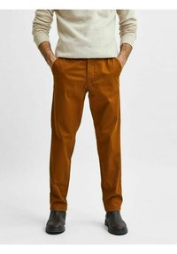 Selected Homme - SLHSLIM MILES FLEX PANTS - Chinos - monks robe - 3