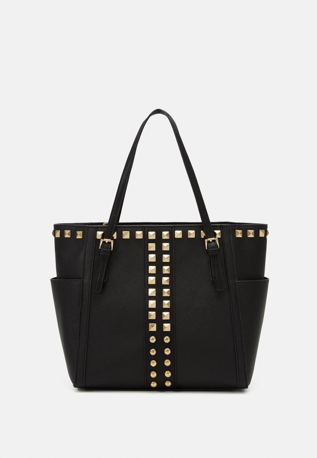 BHARVEY TOTE - Torba na zakupy - black/gold-coloured
