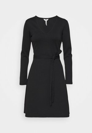 OBJSAVA L/S V-NECK NOOS - Day dress - black