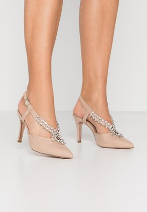 GEMINISLINGBACK TRIM COURT - High Heel Pumps - nude