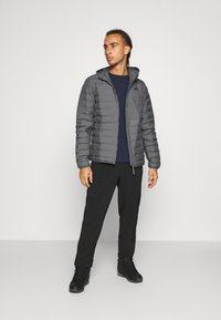 adidas Performance - VARILITE SOFT HOODED - Down jacket - dark grey - 1