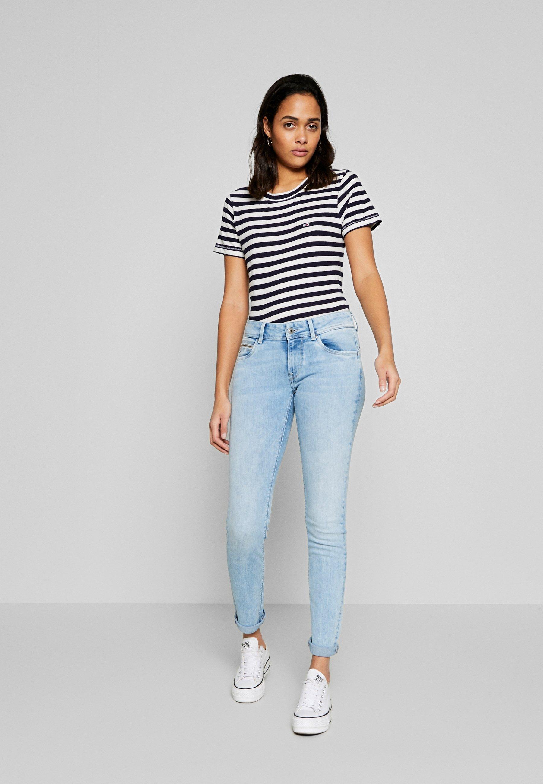 KATHA Slim fit jeans light blue denim
