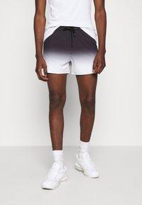 11 DEGREES - DOT FADE SWIM SHORTS - Shorts - black/white - 0