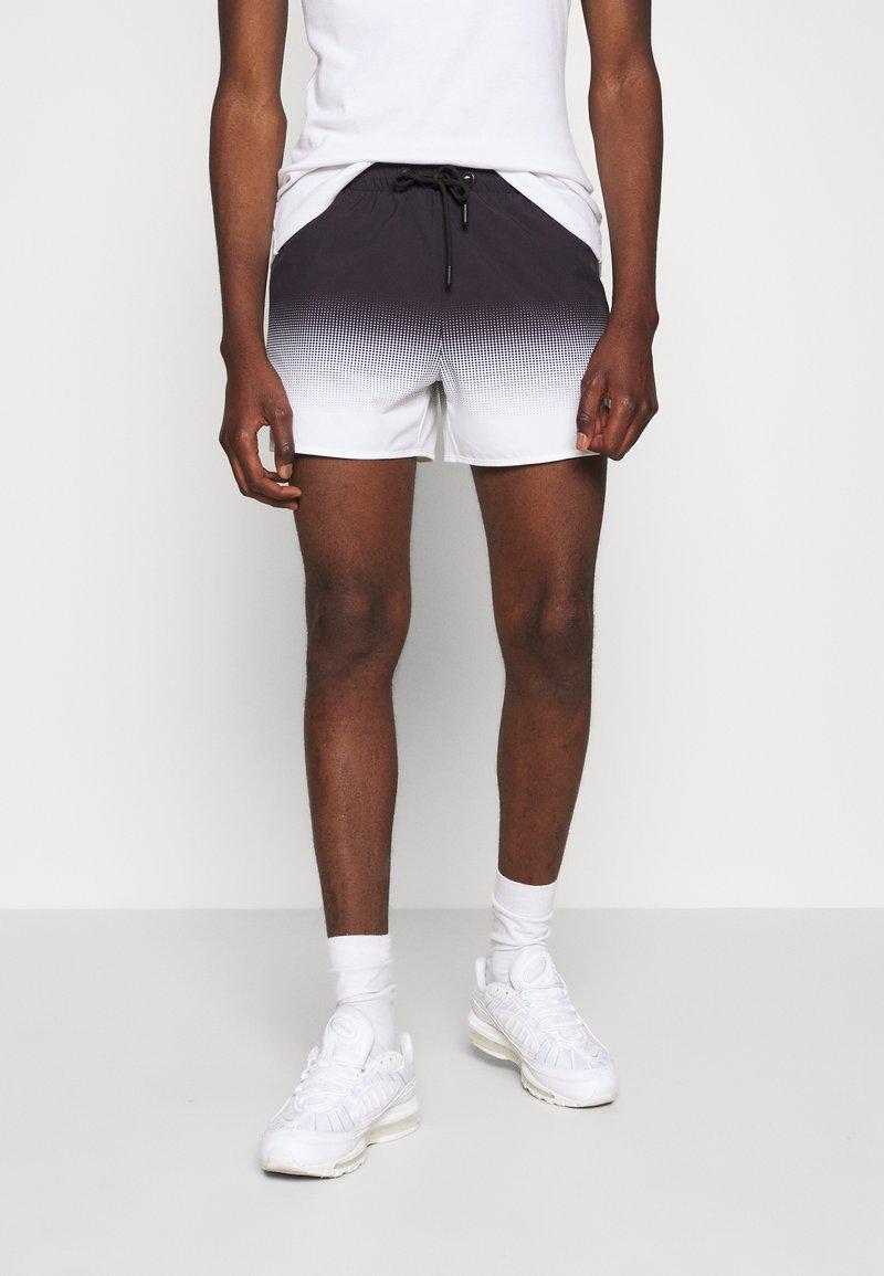 11 DEGREES - DOT FADE SWIM SHORTS - Shorts - black/white