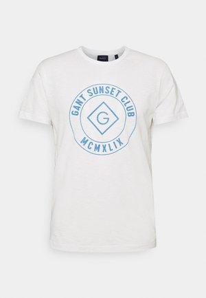 SUNSET CLUB - Camiseta estampada - eggshell