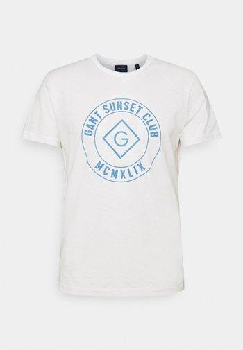SUNSET CLUB - Print T-shirt - eggshell
