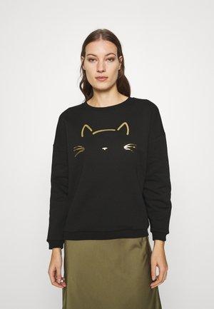 CAT PRINTED - Sweatshirt - black