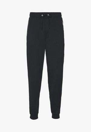 HORSE AND CARRIAGE TAPE  - Tracksuit bottoms - black