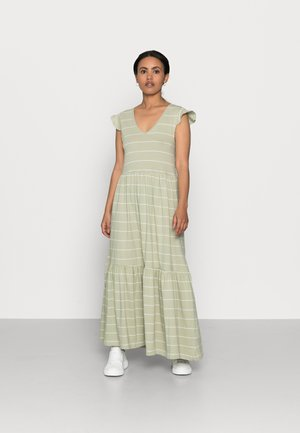 ONLMAY LIFE DRESS - Maxi dress - desert sage/cloud dancer