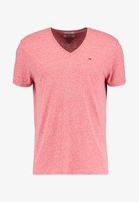Tommy Jeans - ORIGINAL TRIBLEND V-NECK TEE REGULAR FIT - T-shirt basique - red - 3