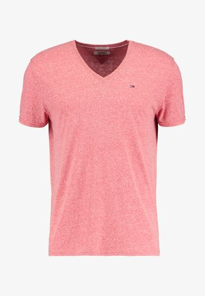 ORIGINAL TRIBLEND V-NECK TEE REGULAR FIT - T-shirt basique - red