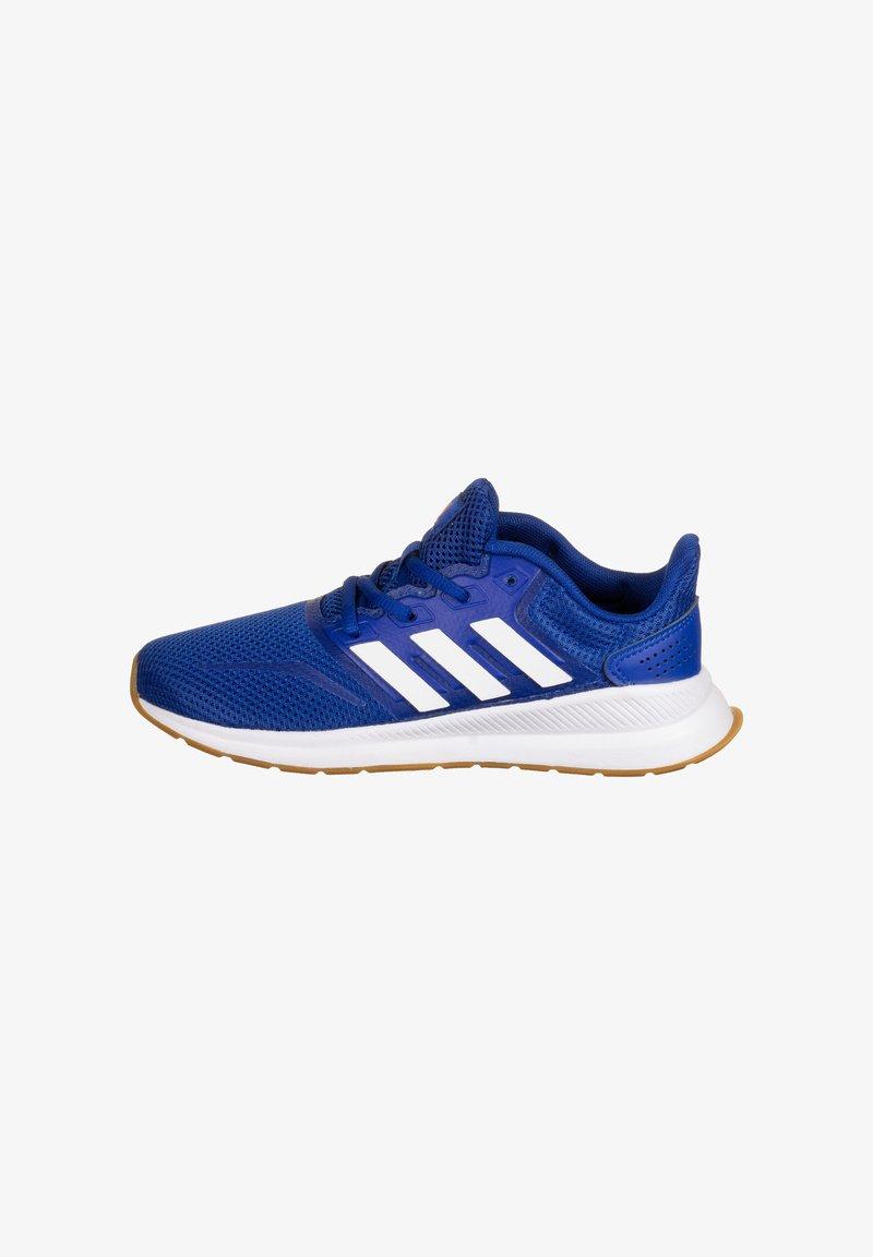 adidas Performance - RUNFALCON UNISEX - Neutral running shoes - royal blue / footwear white / semi solar red