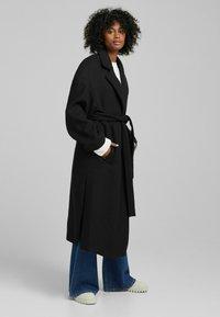Bershka - MANTEL - Halflange jas - black - 1