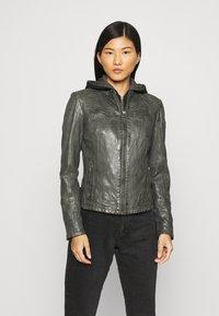 Gipsy - NOLA LAGA - Leather jacket - grey - 0