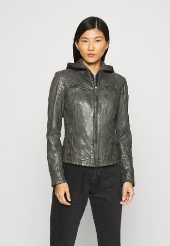 NOLA LAGA - Leather jacket - grey