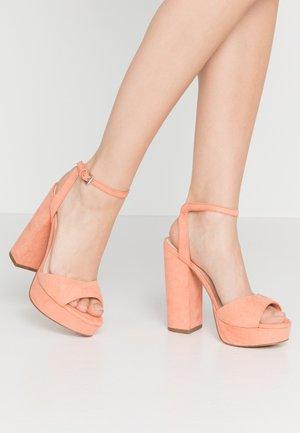 VMCLOVER  - Højhælede sandaletter / Højhælede sandaler - carnelian