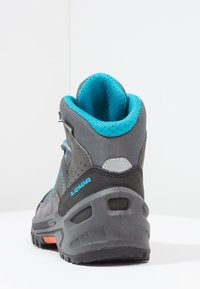 Lowa - APPROACH GTX MID JUNIOR - Walking boots - anthrazit/türkis - 3