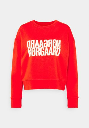 ORGANIC TILVINA - Sweatshirt - fiery red