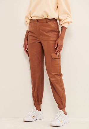 Leather trousers - hazel brown