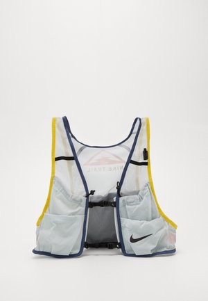 MENS RUNNING TRAIL VEST - Turistický ruksak s hydrovakem - aura/diffused blue/speed yellow/black