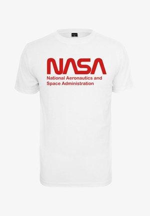 NASA WORMLOGO - Print T-shirt - white