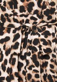 Evans - FRILL DRESS - Robe en jersey - beige/black - 4