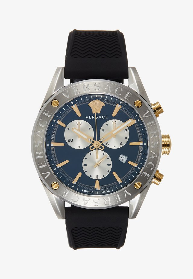 Chronograph watch - black/silver