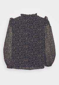 Dorothy Perkins Petite - MONOCHROME DITSY SHIRRED YOKE - Long sleeved top - black - 6