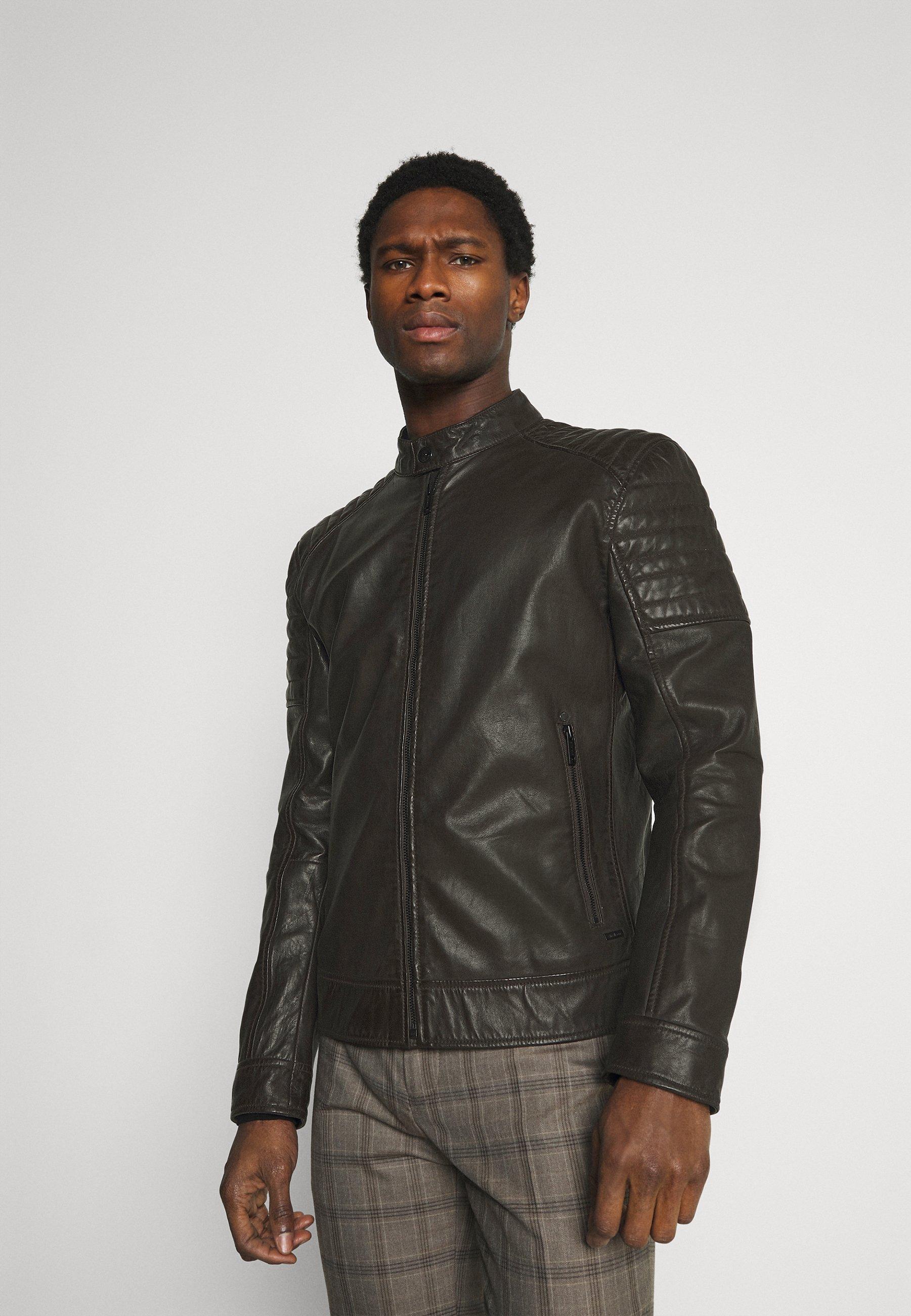 Homme DERRY - Veste en cuir