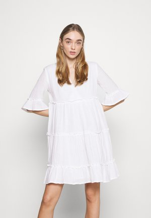 YASLIMA SHORT DRESS ICON - Day dress - bright white