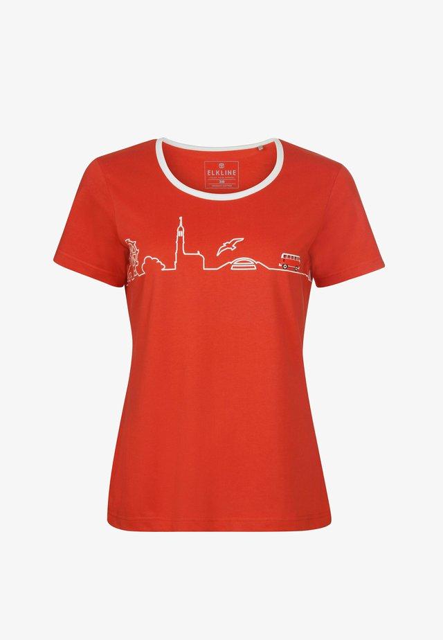 Print T-shirt - mandarin