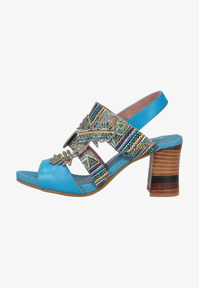 Sandały na obcasie - turquoise