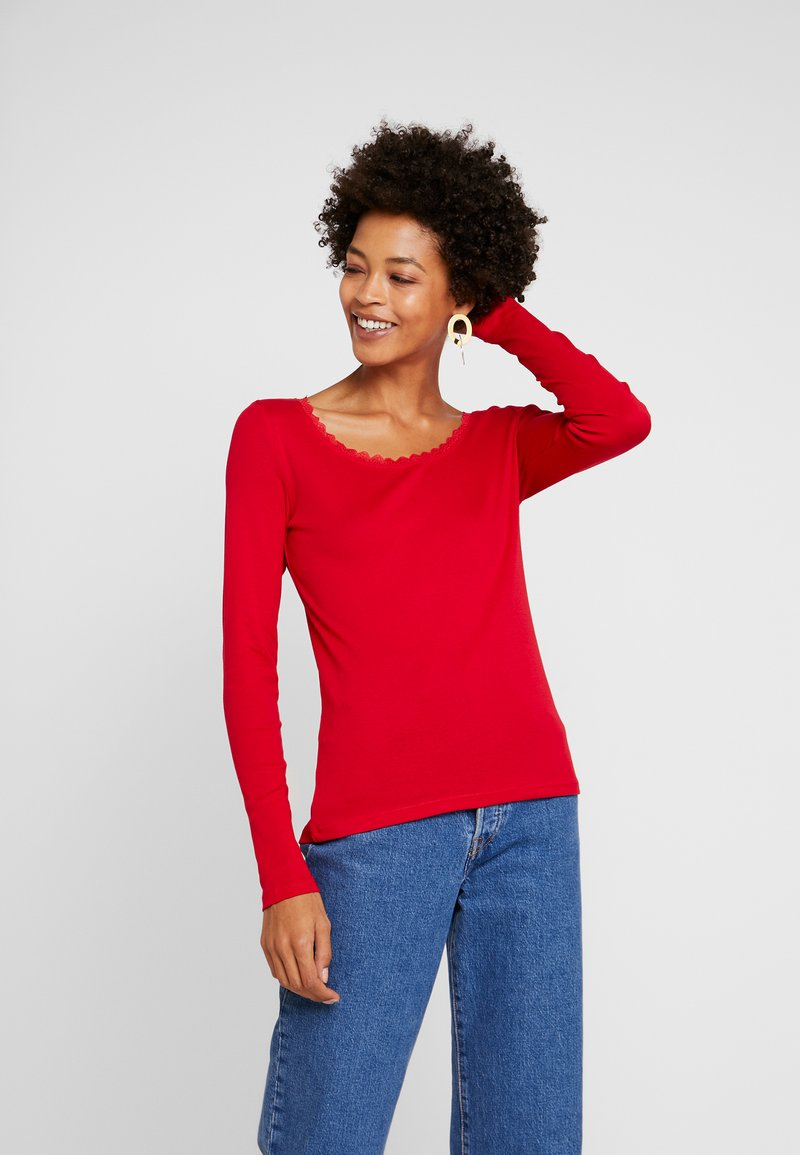 edc by Esprit - CORE FLOW - Long sleeved top - red