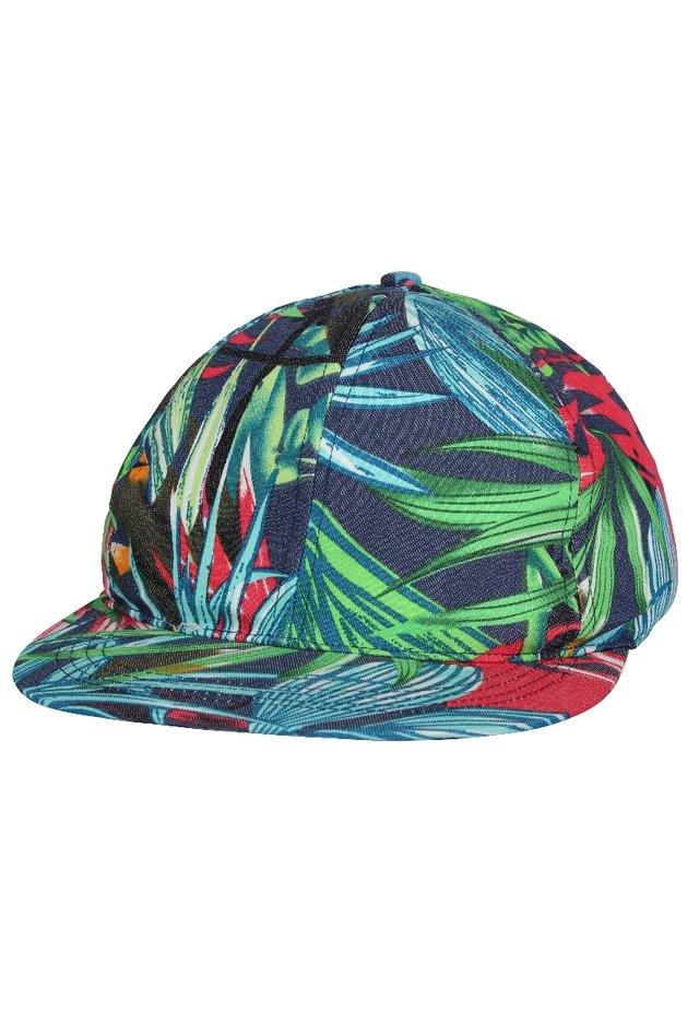 Cappellino - blau, grün, rot/Palme